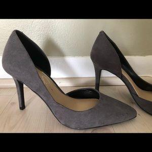 Jessica Simpson Heels Grey Suede 6.5 NEW